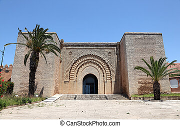 Historic building in the old town of Rabat, Morocco