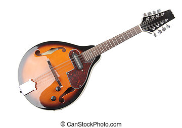 Mandolin of bluegrass - Color photo of a mandolin in country...