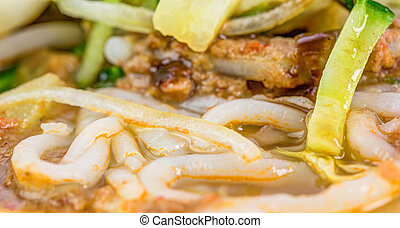 Asam Laksa Noodles - Asam laksa, a very popular traditional...