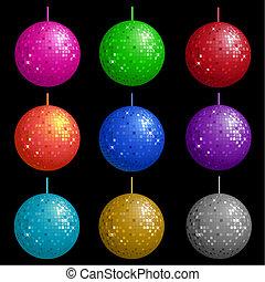 Disco balls  - Colourful disco balls
