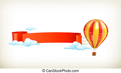 Air balloon, vector banner