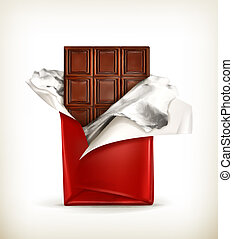Chocolate, vector