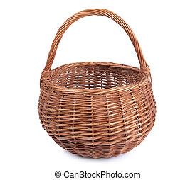 Wicker basket - Color photo of an old wicker basket...