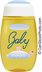 baby shampoo - vector realistic baby shampoo container,...