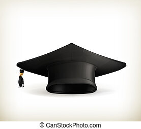 Graduation cap, vector