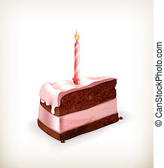 Piece of cake, vector