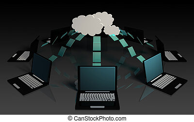 Cloud Computing Big Data Distributed Computing 3D