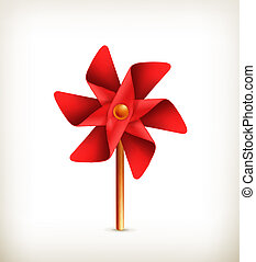 Pinwheel toy, vector