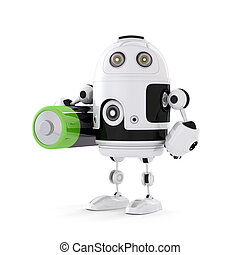 Robot with battery