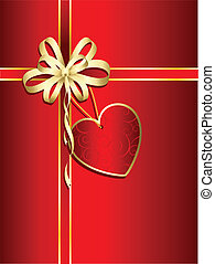 valentines gift - Valentines gift with heart shaped label