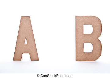 ABC Letters - Image Isolated on White