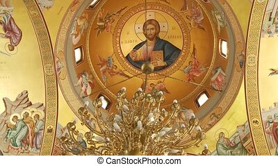 Greek Church - video footage of a greek church inside
