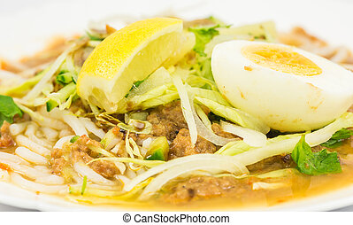 Asam Laksa Rice Noodles - Asam laksa, a very popular...