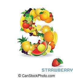 Alphabet From Fruit. Letter S