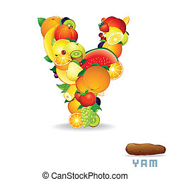Alphabet From Fruit. Letter Y