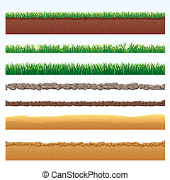 Ground Cutaway, Desert and Grass Elements