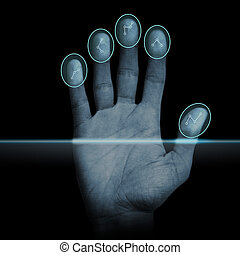 Fingerprint Scanner - Modern fingerprint scanning device -...