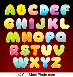 Colorful Candy Alphabet