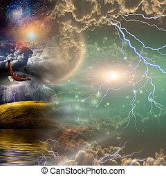 Mystical Landscape Composition