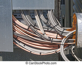 a bundle of electrical cables