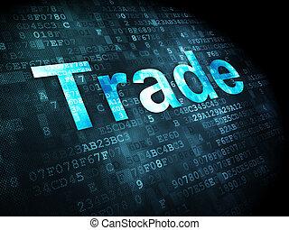 empresa / negocio, concept:, comercio, digital, Plano de...