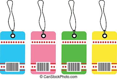 Gift tag bar code