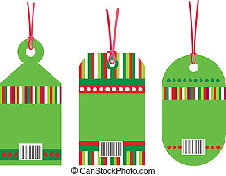 Gift tag bar code on white background