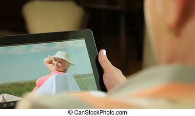 Digital tablet with summer vacation
