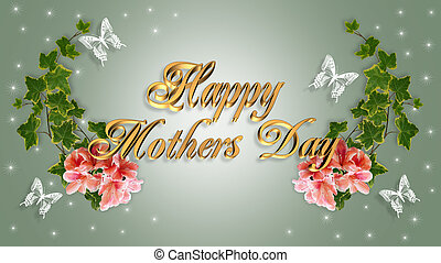 Mothers Day Card Floral Border