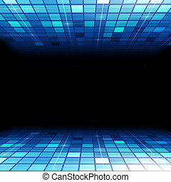 Media Technology - blue concept media technology abstract...