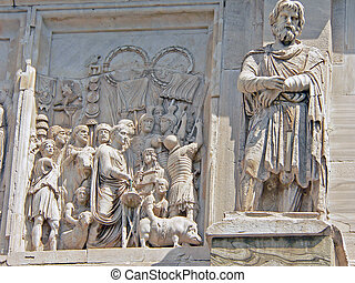 relief on consantine arch in rome