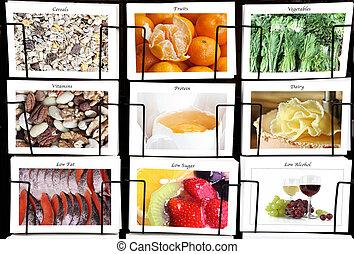 Healthy diet collage