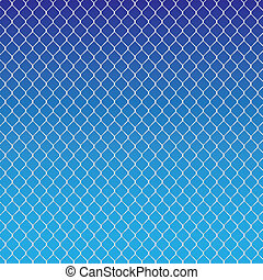 wired fence on a blue background - illustartion