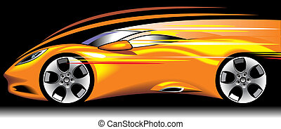 my original sport car design in the yellow color