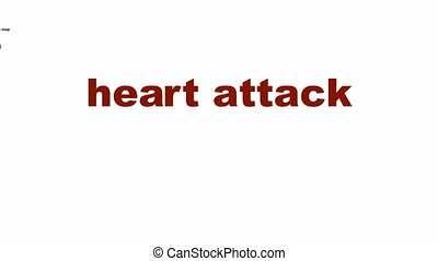 Heart attack medical symbol - Heart attack medical message...