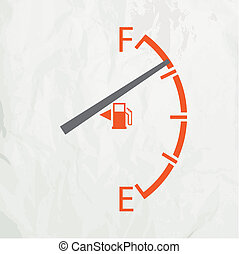 Gas gage isolated on a white background