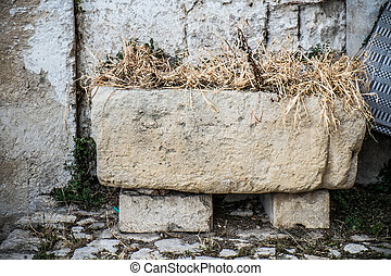 Old stone manger - Old stone manger in the old town of...