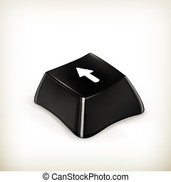 Black button, vector