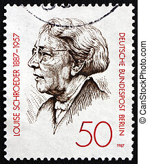 Postage stamp Germany 1987 Louise Schroeder, Politician -...