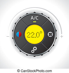 Air condition gauge with yellow led - Air condition gauge...