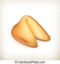 Fortune cookie, vector