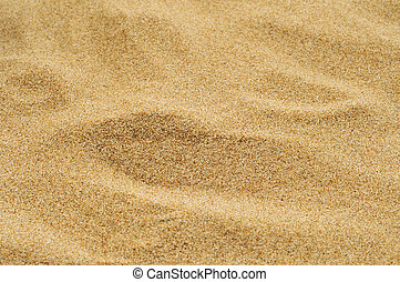 sand of a beach or a desert or a sandpit - closeup of a pile...