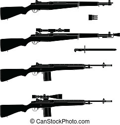Rifle - Layered vector illustration of isolated Rifle