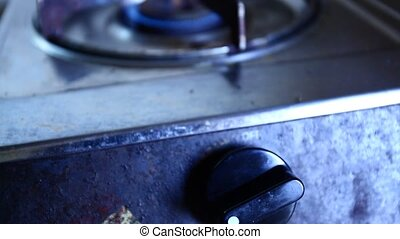 Gas burner close-up