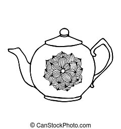 tea pot with flower