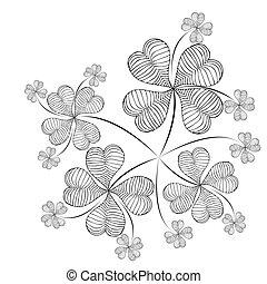 Clover background - Elegant clover illustration on simple...