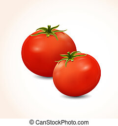 Isolated two tomato