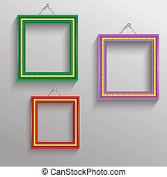 photo frames - colorful illustration with photo frames for...