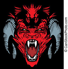 red devil - nice red devil on the black background
