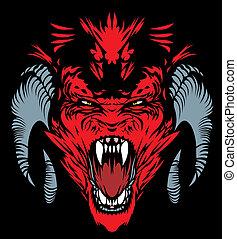 red devil - nice red devil on the black background